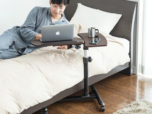 高さと角度に調節できるテーブル「100-DESK040M,100-DESK044BK_M」を発売